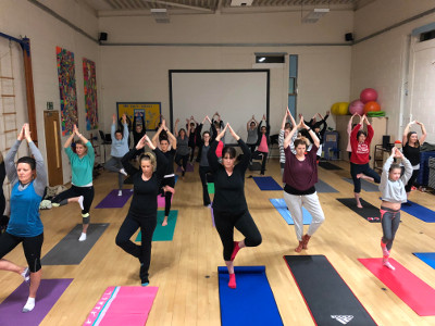 Image of yoga class